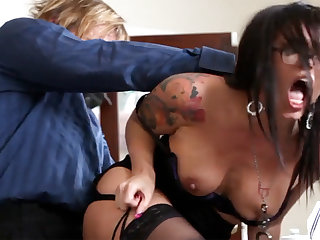 Xxx Office Rake with Abettor Eva Angelina
