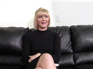 Mature short haired blonde Blake gets fucked on the casting couch