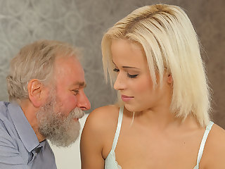 DADDY4K. Old and 18 years old intimacy policy test is a birthday...