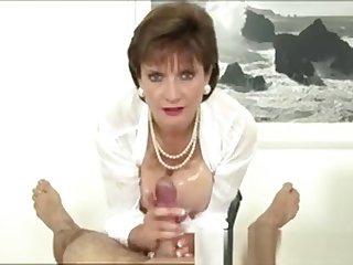 Lassie Sonia Rubs Cock With Tits