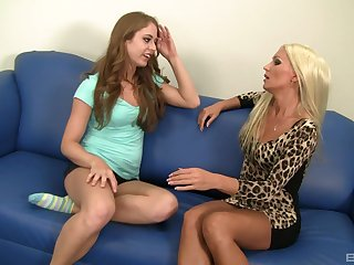 Diana Doll and surprising Keira are horny enough to please each other's cunts