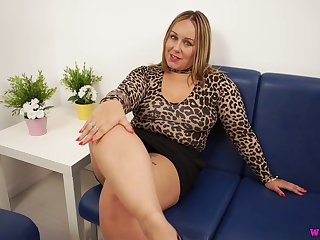 Alone and rapacious chubby domineer battle-axe Ashley Rider dreams of wanking a dick