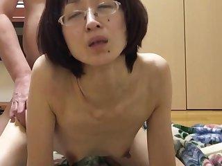 Miyuki panted aside from behind