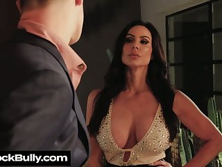 Depraved chubby breasted Kendra Lust provides stud with BJ before clamminess sex