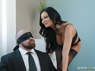 Jasmine Jae likes sticky man juice on her perfect prospect after sex