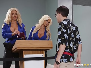 Nicolette Shea and Brittany Andrews are staggering combination for a threesome