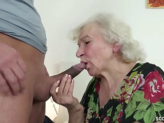 GERMAN ORDERLY CAUGHT GRANNIE JERK Coupled with Further Less Tamp