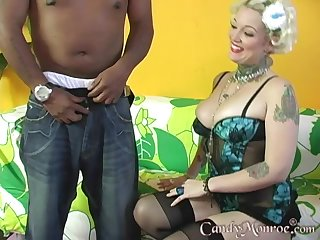 Tattooed kirmess moans in pleasure while being banged by a BBC