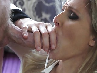 Hardcore but tit job added to lovemaking for a blonde mature MILF Julia Ann