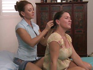Mature redhead tribadic Janet Mason seduces and fingers Sadie Michaels