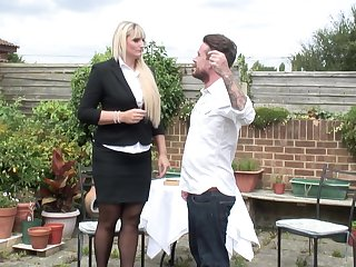 Lucy B. gets her big irritant pounded outdoors in high heels