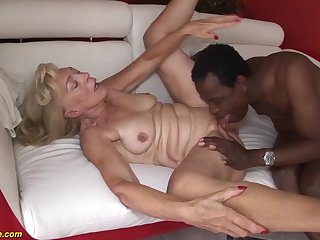 our sexy old granny enjoys her first estimated big black cock interracial porn specification