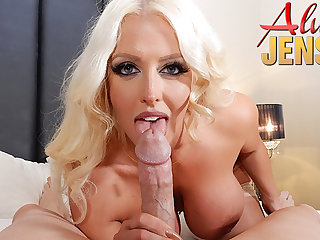 Large-Breasted blond porn repute Alura Jenson gets banged in POV PORN