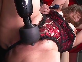 Slutty mom with chunky clit and vibrator