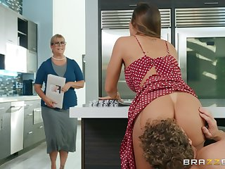 Big ass get hitched fucked constant almost the kitchen and made to swallow