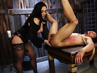 Strapon femdom domination by busty mature lass Forte Lexis