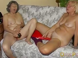 lesbian amateur matures toying