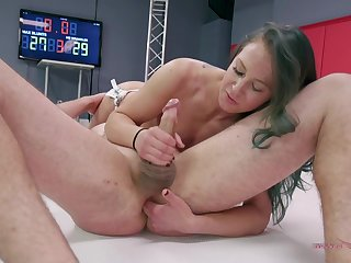 Hot woman fights for blarney in naughty XXX ring play